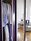 An open wardrobe