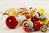 Colourful glass marbles