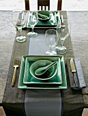 Table laid for two in Asian style