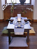 Table laid in Asian style