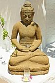 Statue of Buddha with windlight