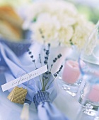Festive table setting with place cards