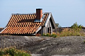 A wooden country house in Scandinavia