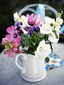 Summer flowers in a pitcher