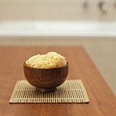 Sponge in a wooden bowl
