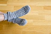 A person wearing socks