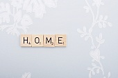 Letters spelling the word 'Home'