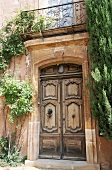 A doorway in Roussillon, Luberon Mountains