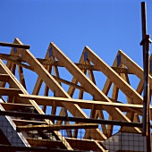 A roof under construction