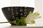 Bowl with Asian characters