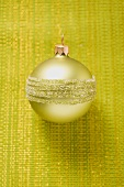 Gold Christmas tree bauble