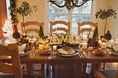 Christmas table (USA)