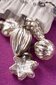 Silver Christmas tree ornaments