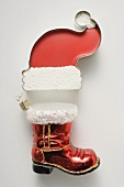 Sweet Father Christmas hat & Christmas tree ornament (boot)