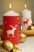 Verschiedene Weihnachtskerzen