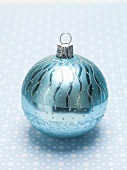 One turquoise Christmas bauble