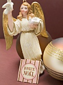 Christmas angel and bauble