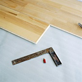 Laying a parquet floor