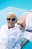 Germany, Senior Couple relaxing