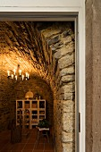 An arched Baroque cellar in an old town house