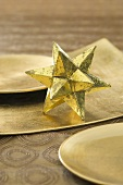 Christmas decoration with a gold star