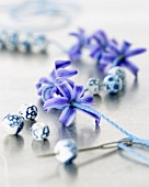 Hyacinth flowers and beads