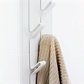 A towel hung on a hook
