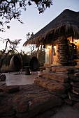 An African house with a thatched roof