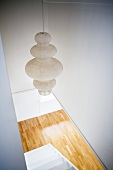 Pendant lamp with paper lampshade
