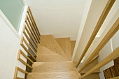 Stairwell with spiral staircase