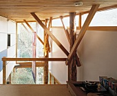 Wooden roof structure & supports