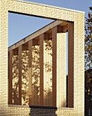 Modern, brick arcades