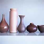 Ceramic vases of various shapes