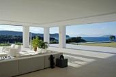 White terrace on the coast
