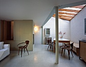 Open-plan living-dining room in modern extension