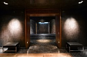 Luxurious spa with defined lighting effects