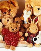 Several soft toys