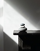 Pebbles on mantlepiece