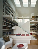Private library with gallery