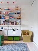 Bookcase in child's bedroom