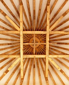 Star-shaped wooden structure
