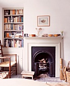 Cosy corner with open fireplace