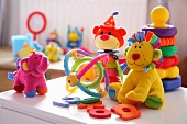 Colourful soft toys & babies' toys