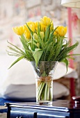 Bouquet of yellow tulips & ferns