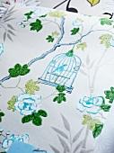 Elegant wallpaper with birdcage motif