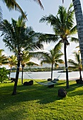 Hammock in the hotel complex of the Four Seasons Resort Mauritius at Anahita
