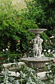 Fountain with statue