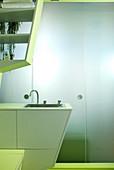 Designer bathroom for small apartment