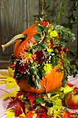 Autumn flower arrangement for harvest festival
