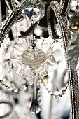 Chandelier with crystal and glass ornaments